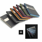Nickel Money Clip Wallet 7 Color Faux Lather Card Holder -FREE Laser Engraving -