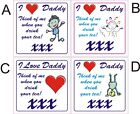 I love Daddy coaster great idea for christmas gift birthday present