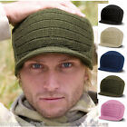 Esco Army Peaked Beanie Hat Wooly Warm Cadet Skating Cap Winter Ski Ribbed