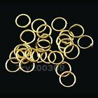 Gold Plated Open Jump Rings Connectors 4mm,5mm,6mm,7mm,8mm,12mm,20mm R0002