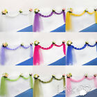 Organza Sheer Fabric Wedding Party Table Runner / Chair Sash Bows Decoration