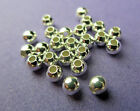 New 3mm 925 Sterling Silver round spacer Beads 25pcs and 50pcs