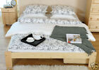"BIG SALE  King Size Bed ""Ada""Pine,Walnut,Oak Alder Solid Wooden 3ft 4ft6in 5 ft"