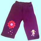 IN THE NIGHT GARDEN UPSY DAISY JOG PANT/BOTTOM--EMBROIDERED -( PURPLE) BNWT
