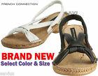 French Connection Diella Womens Leather Espadrille Slip on Sandals Casual Shoes
