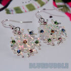 FUNKY DIAMANTE SNOWFLAKE EARRINGS CUTE FESTIVE XMAS CHARM PENDANT FASHION GIFT