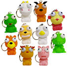 EYE POPPER KEYCHAIN -  BACK PACK PULL  -  ANIMAL SQUISH SQUEEZE - YOU PICK ONE!