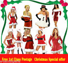 Miss Sexy Halter Neck Velvet Santa Christmas Party Fancydress Outfit Costume Hat