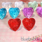 VINTAGE STYLE SPARKLY HEART EARRINGS CUTE KITSCH RETRO FUNKY LOVE VALENTINE GIFT
