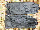 F & F LUXURIOUS REAL LEATHER BOW DETAIL GLOVES BLACK DARK RED BROWN S M L BNWT