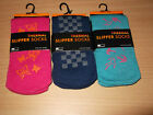 THERMAL SLIPPER SOCK WITH NON SLIP GRIPPER SOLE 3 GRIPPER DESIGNS 3 COLS 3 SIZES