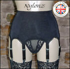 8 Strap Luxury Suspender Belt Black (Garter Belt) NYLONZ  Made In UK