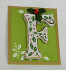 Initial Christmas Ornament Hand Painted Ceramic Trimmed in Gold by Ganz