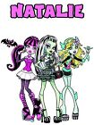 Personalized Monster High Tote Bag Any Name White Polyester