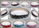 Boys Girls Teenagers Faux Leather Wristband Belt 17cm 22cm 10 colours Xmas Gift