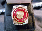 Classic 1910s GRAHAM THREE BROTHERS Motors Logo Closionne Nickel Silver Ring