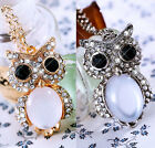 Sparkling Crystal Diamante Stone Owl Hot Fashion Necklace Pendant For Women Girl
