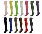 NEW LADIES WOMENS GIRLS COTTON OVER THE KNEE SOCKS 13 COLOUR ONE SIZE FITS