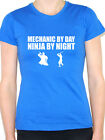 MECHANIC BY DAY NINJA BY NIGHT - Vehicle / Car / Novelty Themed Women's T-Shirt