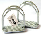 """HORSE RIDING STIRRUPS EQUESTRIAN SILVER SIZE 4.75"""" FROM AMIDALE"""