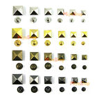 Pyramid Studs Rivet Nailhead Spike Spots Square Leather Craft DIY Rock Punk
