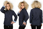 NEW LADIES QUILTED PADDED BUTTON ZIP JACKET WOMENS TOP COAT SIZES 8 10 12 14