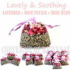 Dried lavender + rose petals + rose buds flowers in bags - potpourri, confetti