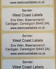 Printed Personalised White Address Adhesive Labels - 70mm x 32mm