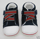 BABY BOYS GIRLS FIRST SHOES NAVY BLUE RED WHITE TRAINERS VELCRO booties boots