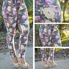 Gray Floral Print skinny Jeans Fastfree Shipping DB9005
