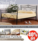 HENLEY Black Double Bed Frame, beautiful and great value black metal bed BARGAIN
