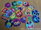 "CRAZY FUNNY MONSTER PRECUT 1"" INCH BOTTLECAP IMAGES 4 SCRAPBOOKING CRAFTS"