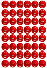 48 COMIC RELIEF RED NOSE DAY ~ Cake Toppers Edible Wafer Rice Paper Decorations