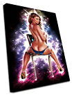 2058 Erotic Canvas Modern Sexy Wall Art Print Stardust