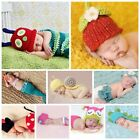 New Baby Boys Girls Costume Crochet Knit Beanie Owl Photo Prop 00,0,1,2