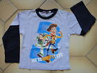 BNWT Toy Story Boys Long Sleeve T-shirt Tee Size 3,4,5,6,7
