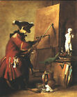 Art Photo Print - Monkey Painter - Chardin Jean Baptiste Simeon 1699 1779