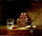 Art Photo Print - Fruit And Glass - Chardin Jean Baptiste Simeon 1699 1779