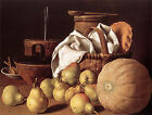 Art Photo Print - Still Life With Melon And Pears Xviii - Melendez Luis 1716 178