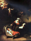 Art Photo Print - Holy Family With Angels - Rembrandt 1606 1669