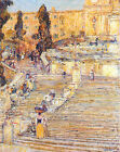 Art Photo Print - Spanish Stairs Rome - Hassam Childe 1859 1935