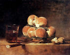 Art Photo Print - Basket Of Peaches - Chardin Jean Baptiste Simeon 1699 1779