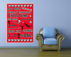 FOOTBALL POSTER - Wall Art Design - Sports Themed - Various Colours and Sizes