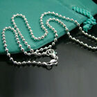 Promotions sale New free shipping solid silver 2mm bead chain necklace gift HN02
