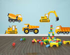 DIGGER TRUCK SET Wall Art - Construction / Builder / Children's Themed Decal