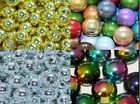 6mm 8mm metallic style round acrylic beads rainbow, silver & gold by 1st class