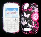 Pink Butterfly Flower Silicone Gel Case Cover For Nokia Asha N200 /201