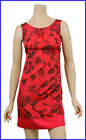 NEW River Island Floral Satin Evening Dress 8 10 12 14 16 18 Red/Black Party