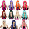 ★REELVA★ Long Curly Fancy Dress Wigs Straight Cosplay Costume Ladies Wig Party
