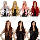 32 in. Long All Color Hair Heat Resistant Spiral Curly Cosplay Wigs Party Wigs